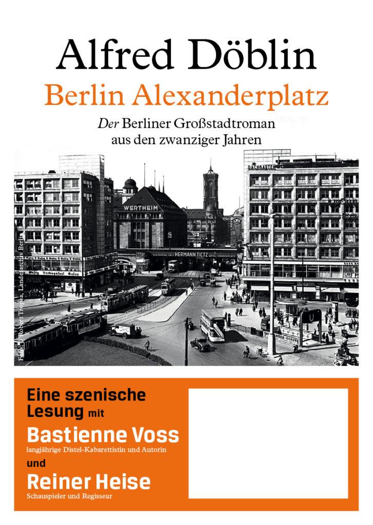 Lesungsplakat Berlin Alexanderplatz