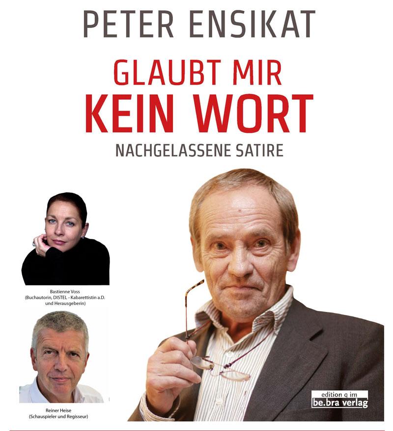 Lesungsplakat Enzikat (Voss und Heise)